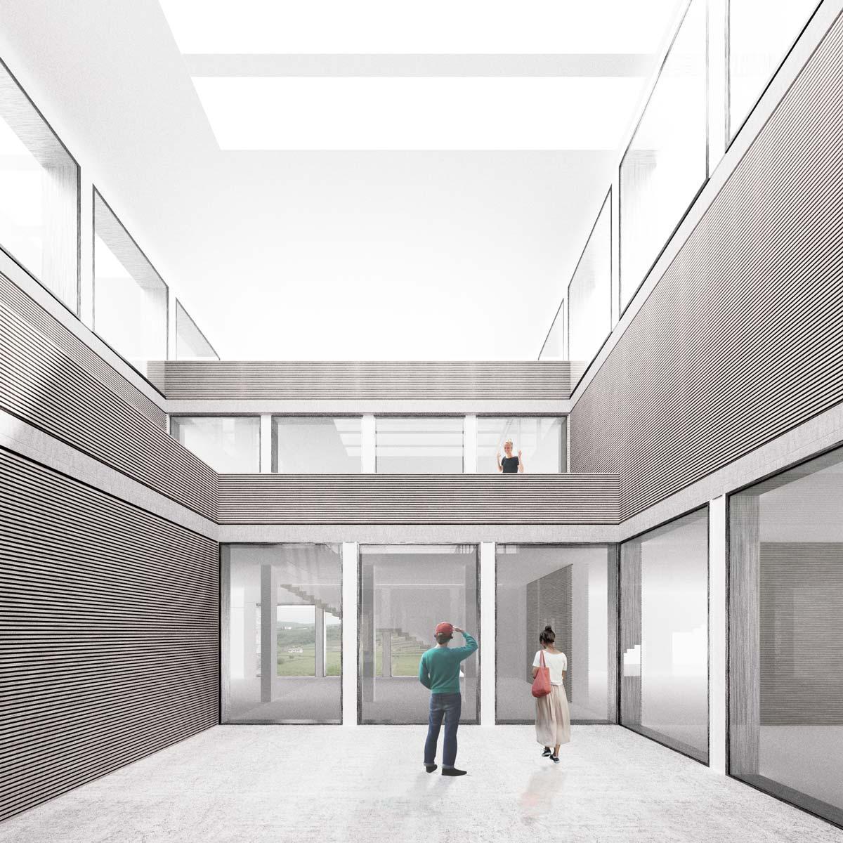 Render interno progetto concorso architettura yac for Architetto interni