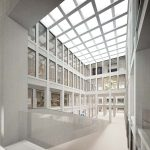 Render interno edificio commerciale padova progetti di riqualificazione urbana per la città