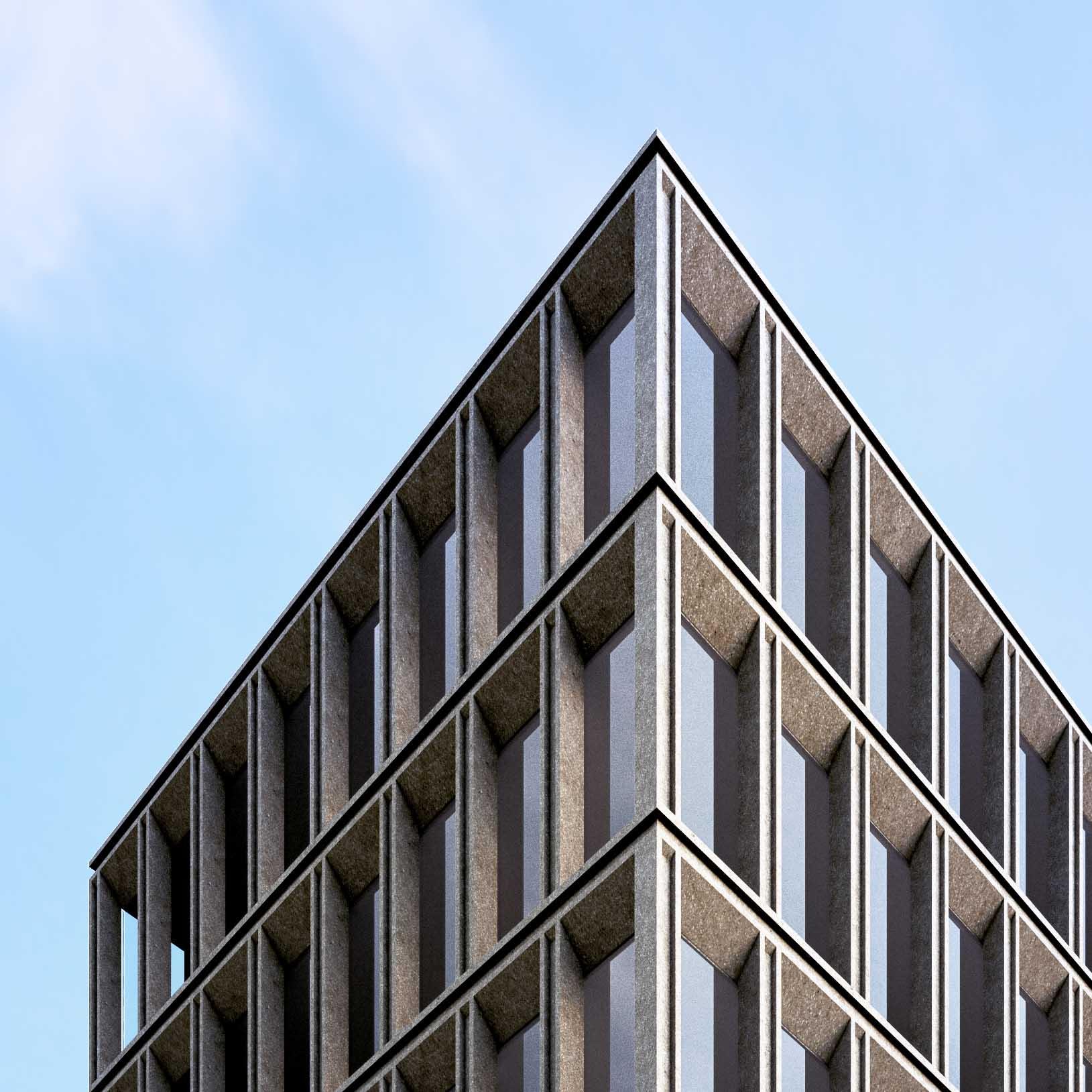 Edificio a Torre - dettaglio della facciata