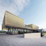 Progetto villa unifamiliare rivestimento della facciata in metallo - Render esterno