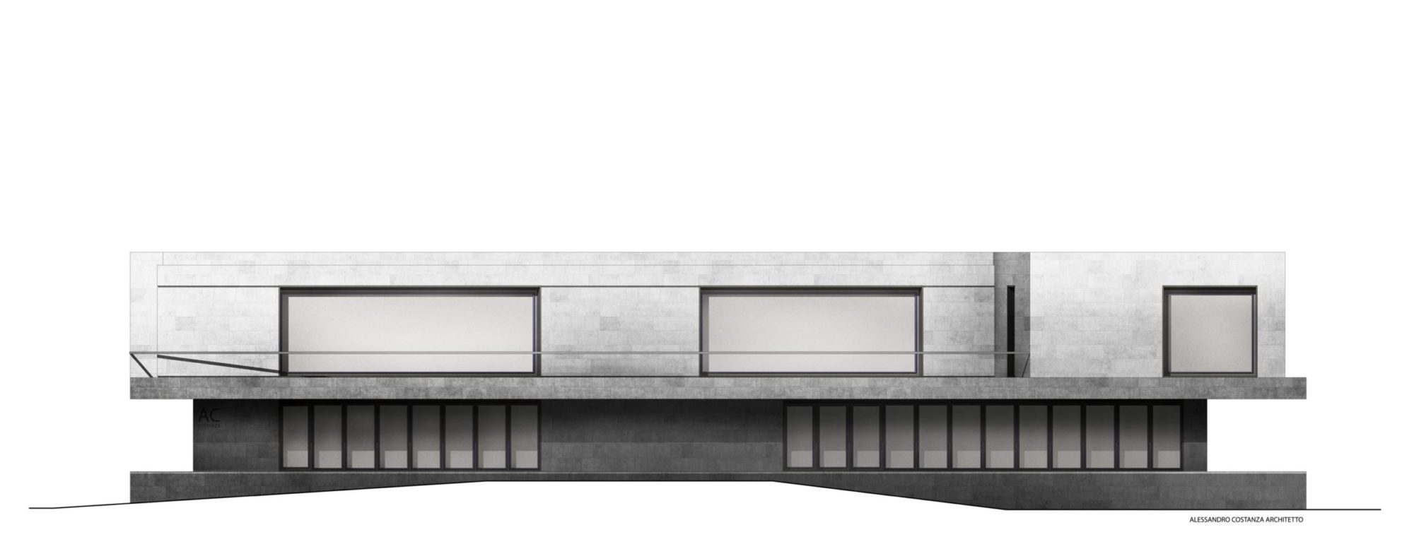 facade for two-storeys building