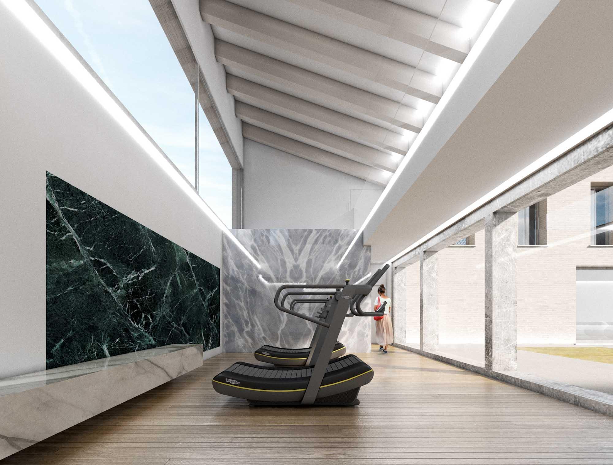 interior design palestra technogym skillmill
