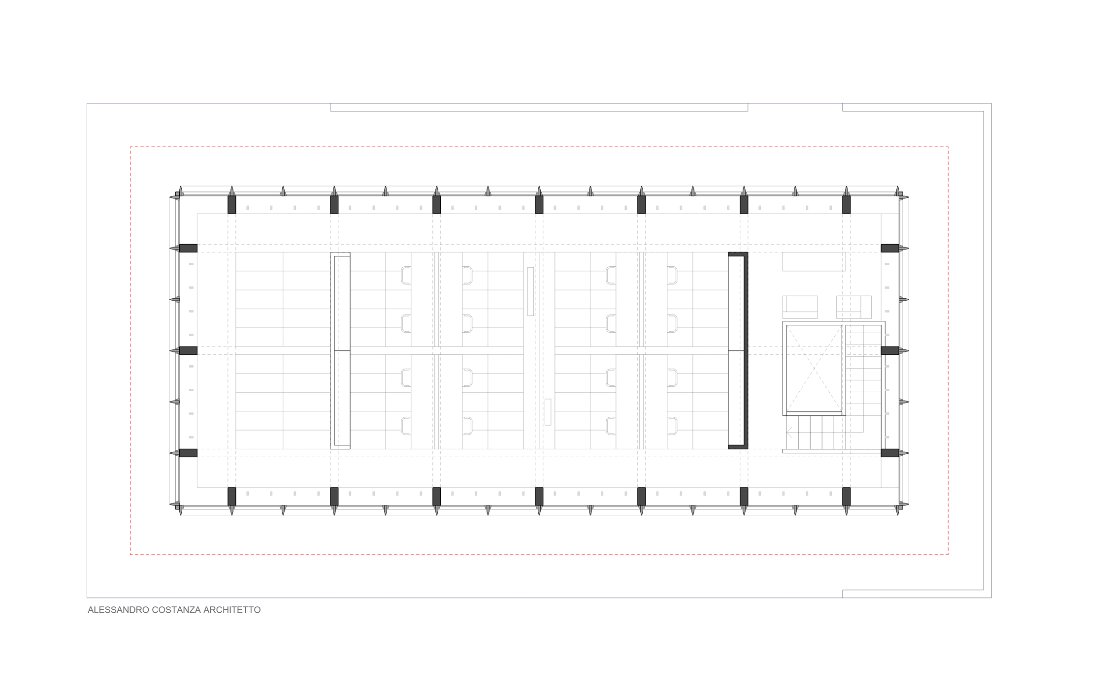 plan with furniture - study for office