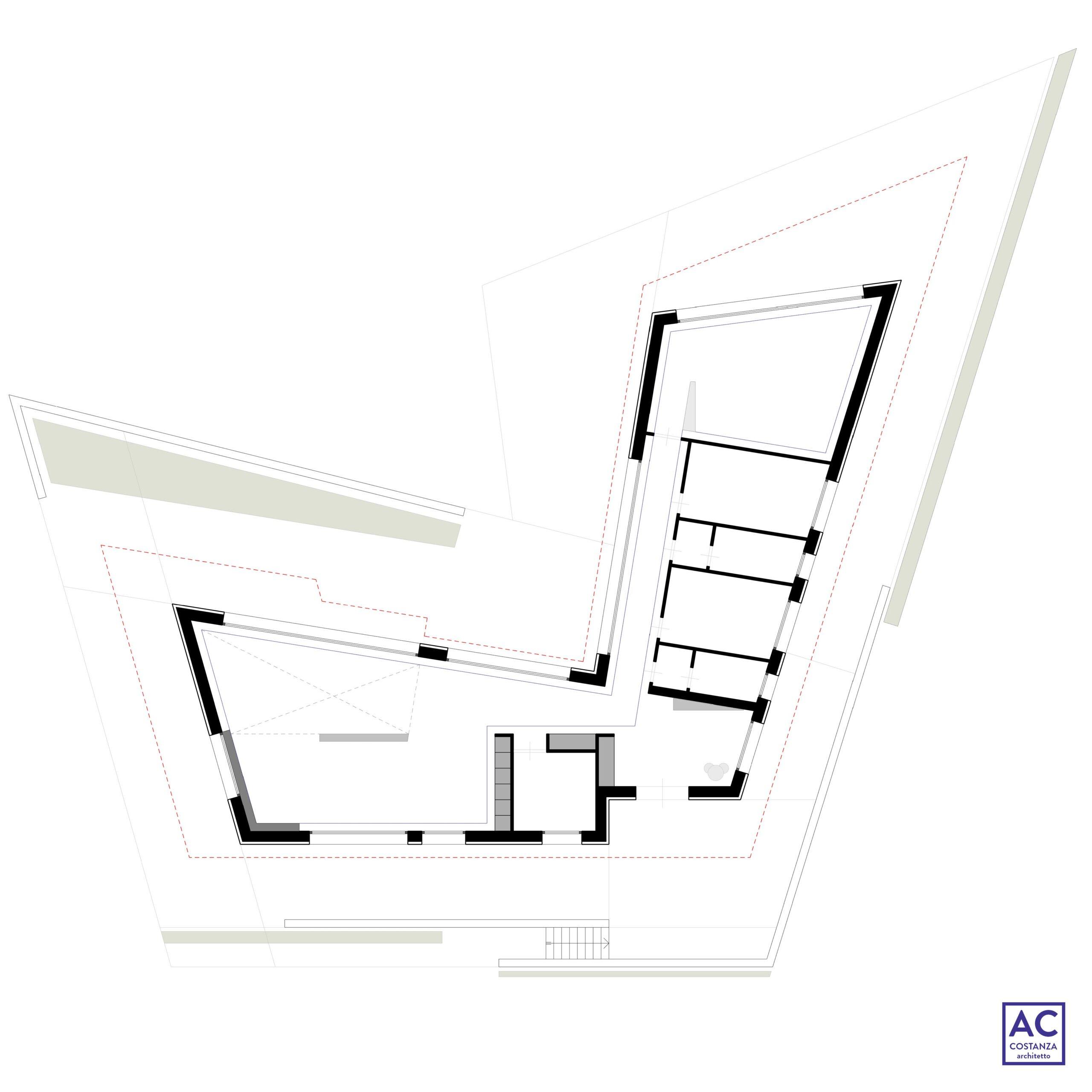 progetto casa unifamiliare - tipologia a L