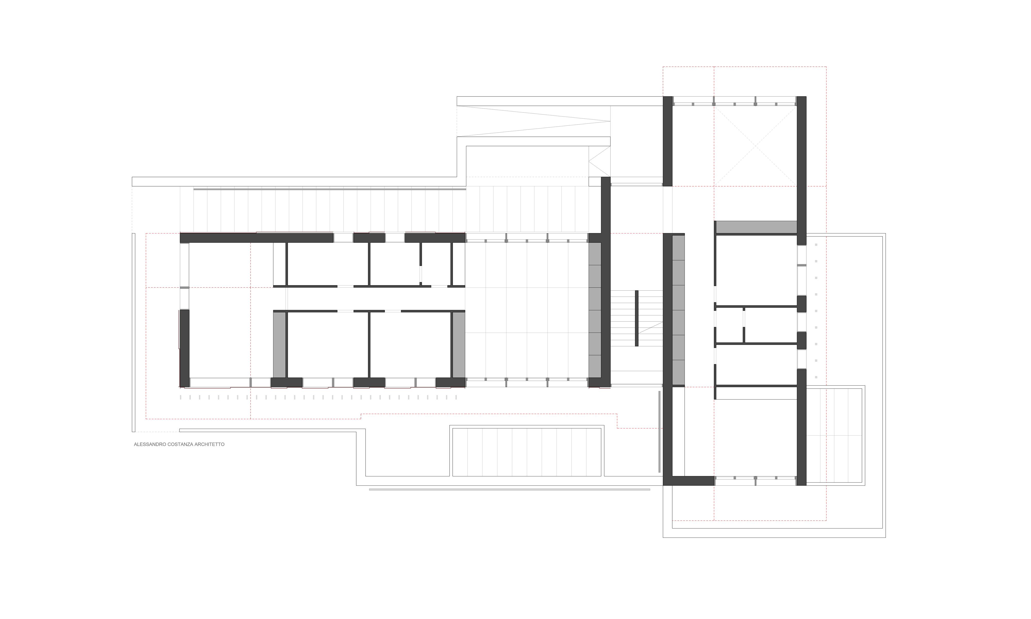 progetto per abitazione bifamiliare pianta piano terra