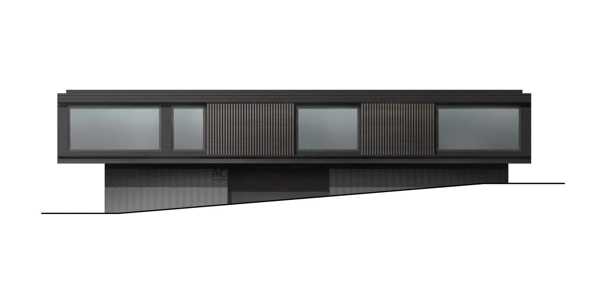 progetto studio prospetto per abitazione Costanza Architetto