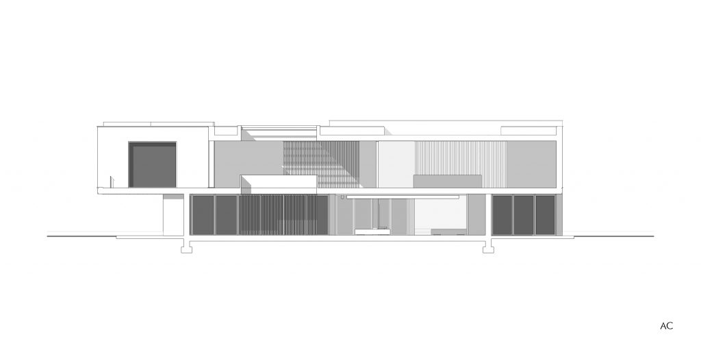 architectural section - study for house - Alessandro Costanza Architetto 001